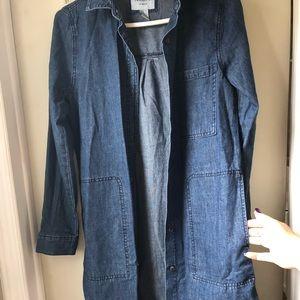 Long jeans blouse
